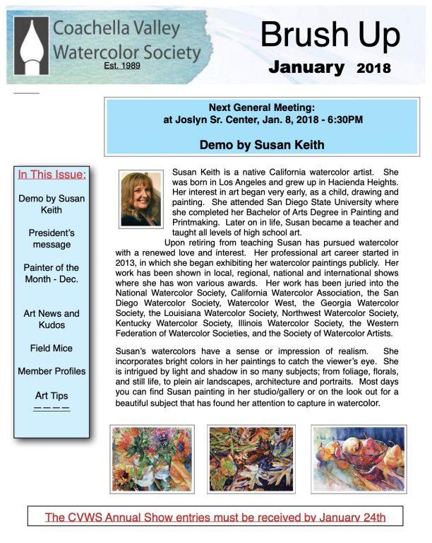 Brush Up Newsletter Image - January 2018
