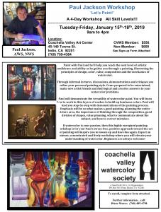 Paul Jackson Workshop Flyer Thumbnail
