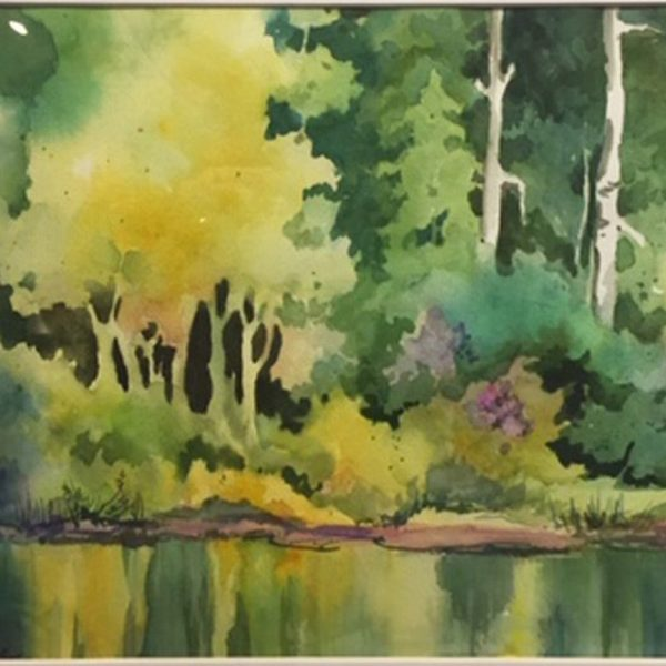 Plein Air Presentation, 2nd Place - Connie Zane - The Fishpond