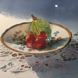 Traditional Presentation, Honorable Mention - Diane Morgan - Sunlit Cherries
